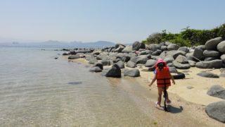【志賀島】勝馬海岸にある無人島「沖津島」を探検してきた