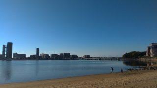 【香椎】御島海岸周回コースは1週3km、ジョギングや散歩によいところ